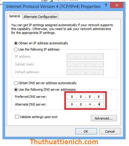Cách đổi DNS vào Facebook bị chặn