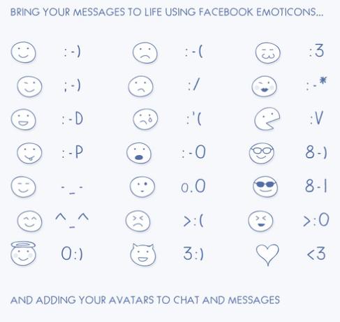 Phím tắt biểu tượng mặt cười Facebook