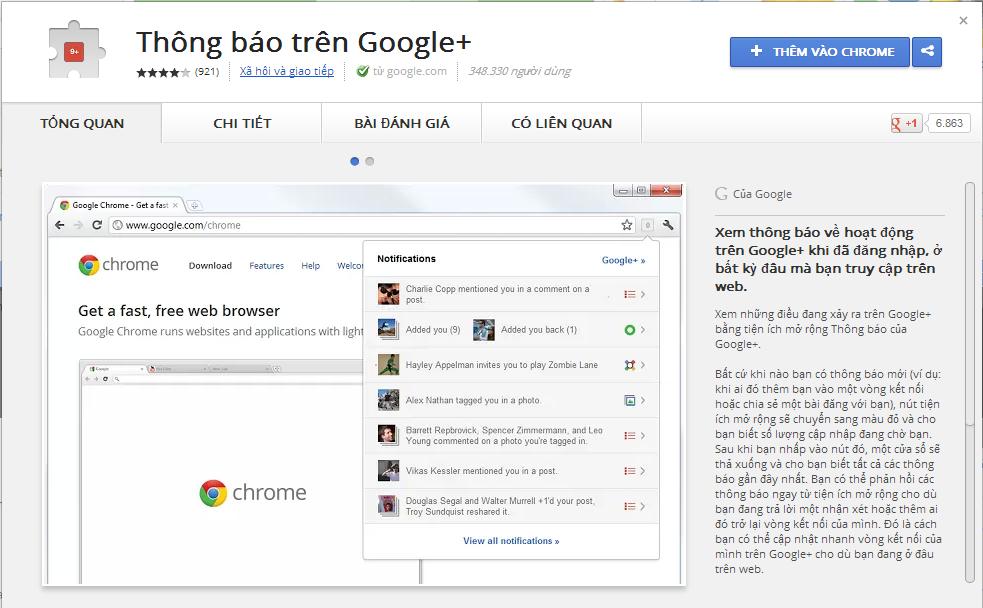 Thông báo trên Google+