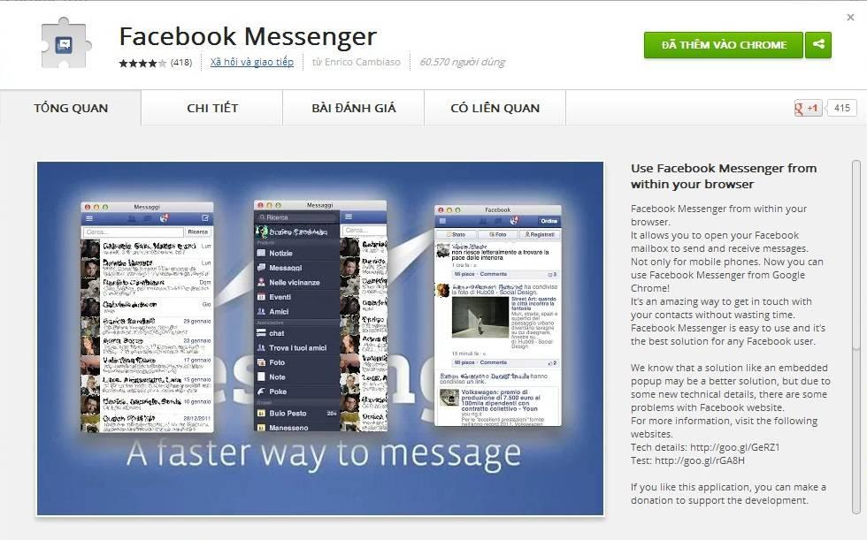 Add-on Facebook Messenger