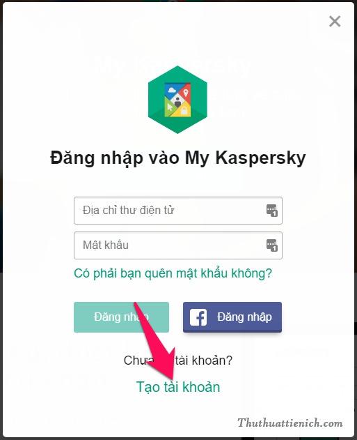 Nhấn nút Tạo tài khoản