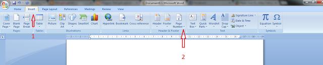 Cách đánh số trang trong word 2003, 2007, 2010