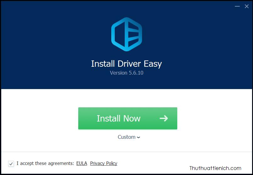 Việc cài đặt phần mềm Driver Easy rất đơn giản nên mình sẽ không hướng dẫn chi tiết