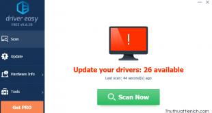 Hướng dẫn Backup, Restore, Update driver bằng phần mềm Driver Easy