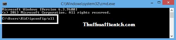 Kiểm tra địa chỉ đăng nhập phần quản trị wifi TP-Link