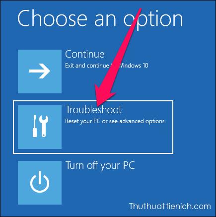 Sau khi chạy công cụ Troubleshoot, bạn nhấn nút Troubleshoot