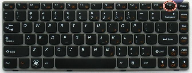 Nhấn phím Print Screen hoặc Print Sc SysRq trên bàn phím