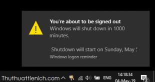 Cách hẹn giờ tắt máy tính Windows 7/8/10