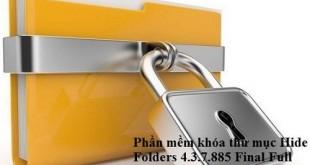 Phần mềm khóa thư mục Hide Folders