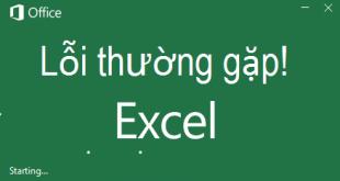 Các lỗi thường gặp khi sử dụng Excel