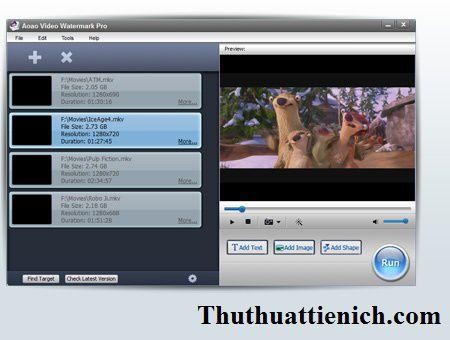 Phần mềm đóng dấu bản quyền video Aoao Video Watermark Pro
