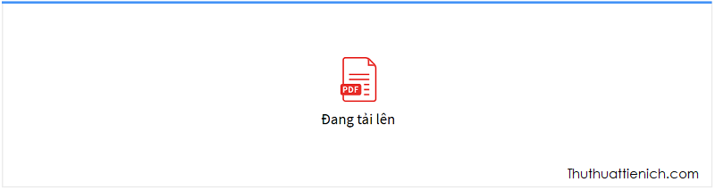 Chờ chút cho file PDF được tải lên và chuyển đổi sang Word