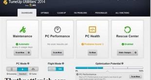 Phần mềm tối ưu hệ thống máy tính TuneUp Utilities