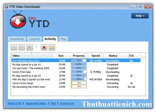 Phần mềm YouTube Video Downloader PRO