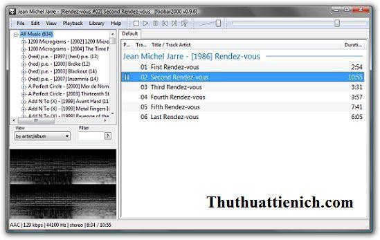 Phần mềm nghe nhạc nhỏ gọn Foobar2000