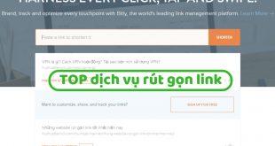 TOP trang web rút gọn link miễn phí