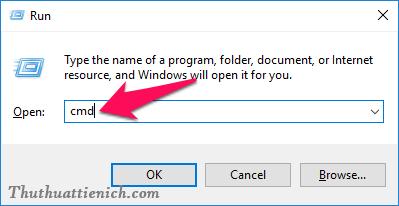 Nhập lệnh Windows + R rồi nhấn Enter