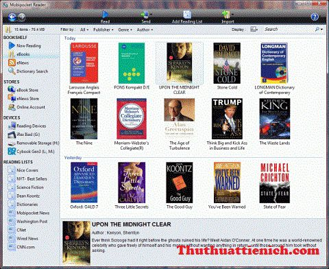 Download phần mềm đọc file * prc Mobipocket Reader mới nhất