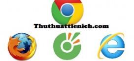 Top 5 trình duyệt web được sử dụng nhiều nhất ở Việt Nam 2017