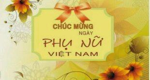 Thiệp hoa 20/10 dành tặng phái đẹp nhân ngày Phụ nữ Việt Nam