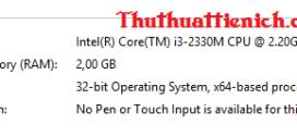 Cấu hình máy tính như nào để cài Windows 8/8.1?