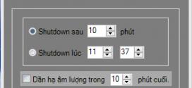 Tải phần mềm hẹn giờ tắt máy tính tiếng Việt mShutdown