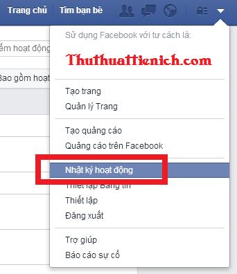 Xem nhật ký hoạt động Facebook