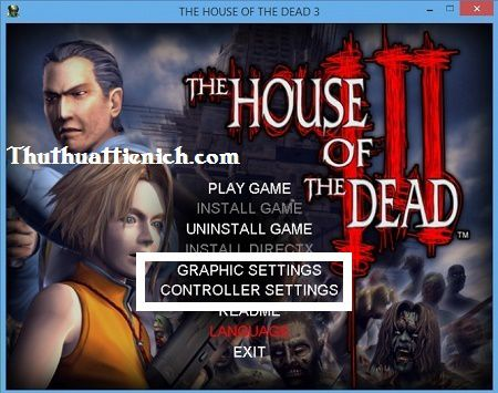 Cách chơi game The house of The Dead 3