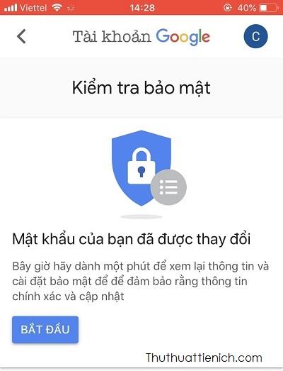 Vậy là bạn đã đổi mật khẩu Gmail thành công rồi đó