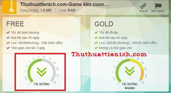 Cách tải phần mềm, game & tài liệu từ Tenlua.vn