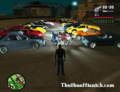 Lệnh, mã game GTA San Andreas