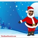 Tạo thiệp Noel trực tuyến với hình ông già Noel nhảy múa