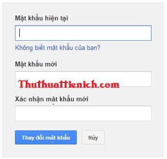Hướng dẫn đổi mật khẩu Gmail