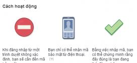 Bảo mật Facebook với xác minh 2 bước qua điện thoại