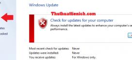 Cách tắt tính năng update trên Windows 7