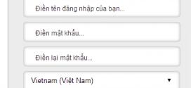 Đăng ký tài khoản Garena tiếng Việt