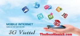 Đăng ký & Hủy các gói 3G của Viettel