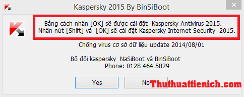 Kav Kis 2015 tự active bản quyền