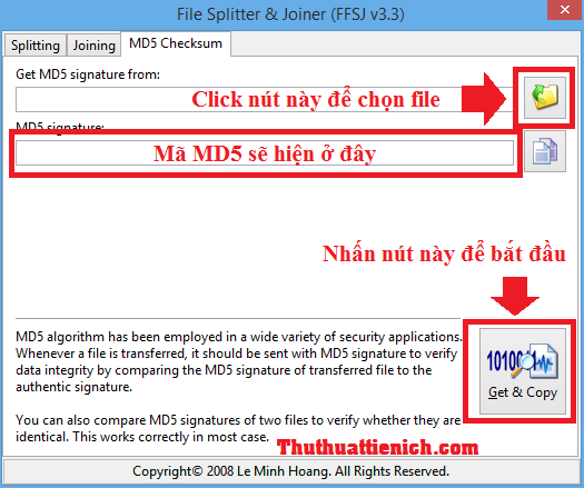 Kiểm tra mã MD5 bằng phần mềm FFSJ
