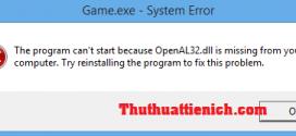 Cách sửa lỗi thiếu file *.DLL