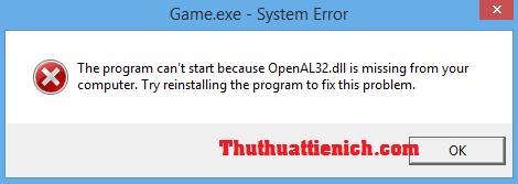 Hướng dẫn cách sửa lỗi thiếu file *.DLL