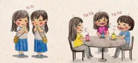 Ảnh vui Sự khác nhau giữa Con gái thời nay & Con gái thời xưa