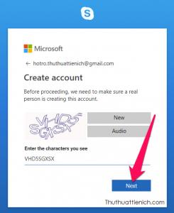Nhập tiếp mã xác nhận rồi nhấn nút Next