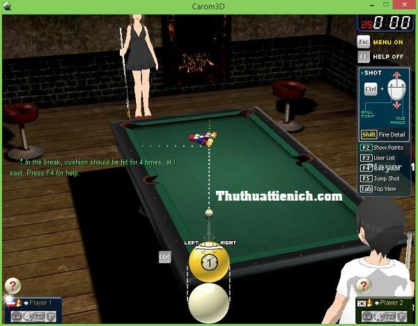 Game bida 3D Offline Carom3D