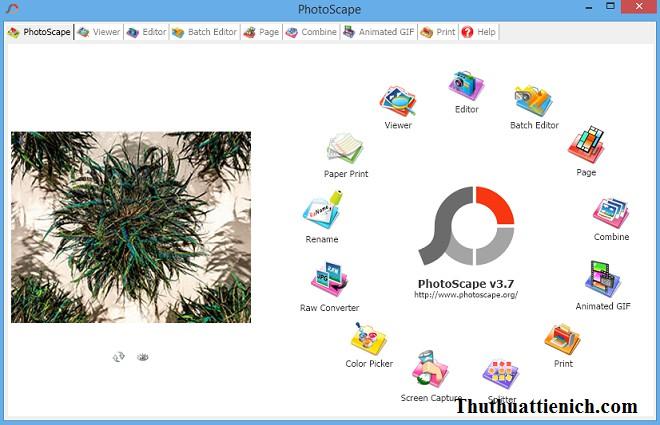 Phần mềm chỉnh sửa ảnh miễn phí PhotoScape