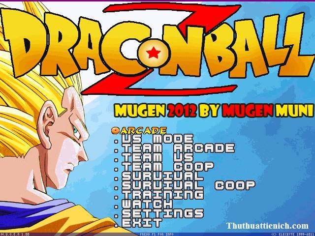 Game Dragon Ball Z Mugen 2012