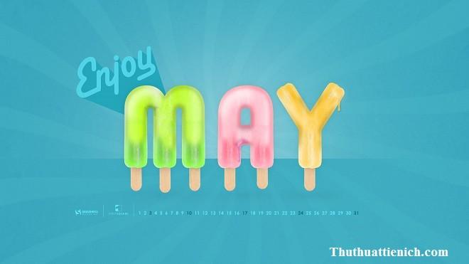 Tạo hình chữ May ( tháng 05) bằng que kem