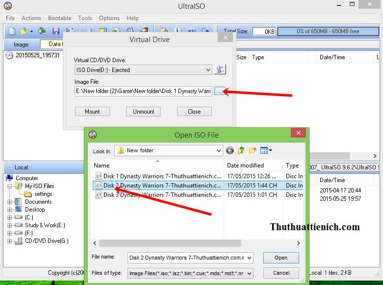 Hướng dẫn cài đặt game từ file ISO với phần mềm UltraISO