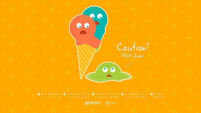 Hình nền kem giải nhiệt cho tháng 06 oi bức