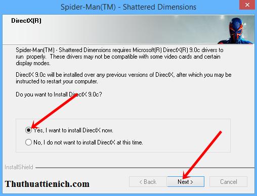 dẫn cài đặt & Crack game Spider-Man: Shattered Dimensions